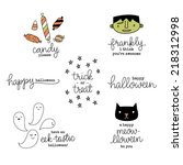 cute hand lettered punny...   Shutterstock .eps vector #218312998