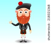 scottish character in kilt | Shutterstock .eps vector #218321368