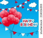 color glossy balloons... | Shutterstock .eps vector #218326303