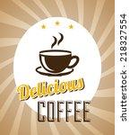 coffee label design  vector... | Shutterstock .eps vector #218327554