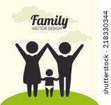 family design over beige... | Shutterstock .eps vector #218330344