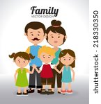 family design over white... | Shutterstock .eps vector #218330350