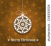 decorative christmas ornament... | Shutterstock .eps vector #218333524