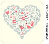 card with a heart.  | Shutterstock .eps vector #218340466