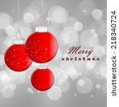 christmas card | Shutterstock . vector #218340724