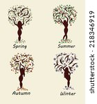 A Woman Tree In Four Seasons....