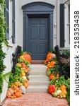 Pumpkins Decorated Halloween...
