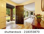 entrance hallway with cabinet.... | Shutterstock . vector #218353870