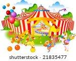 joyful circus and cute pierrot  ... | Shutterstock .eps vector #21835477