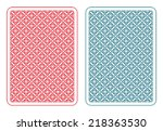 playing cards back two colors   ... | Shutterstock .eps vector #218363530