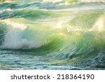 Rough Colored Ocean Wave...