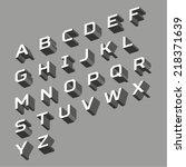 three dimensional vector... | Shutterstock .eps vector #218371639