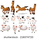 Illustration Of Many Farm...
