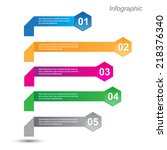 info graphic design template.... | Shutterstock .eps vector #218376340