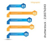info graphic design template.... | Shutterstock .eps vector #218376343