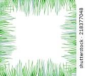 Watercolor Grass Border.