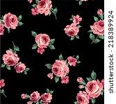 pattern of rose  | Shutterstock .eps vector #218389924