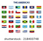 flags of the americas | Shutterstock .eps vector #218403748