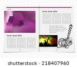 template music event magazine.... | Shutterstock .eps vector #218407960