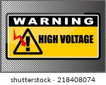 high voltage | Shutterstock .eps vector #218408074