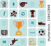 football  soccer infographic | Shutterstock .eps vector #218412868