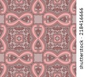 abstract seamless pattern.... | Shutterstock .eps vector #218416666