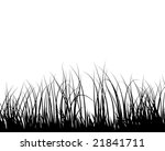 grass silhouettes ornate on the ... | Shutterstock .eps vector #21841711