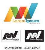 generic logo concept symbol... | Shutterstock .eps vector #218418934