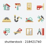 home repair icons | Shutterstock .eps vector #218421760