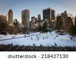Winter Scene In Central Park ...