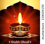 vector happy diwali background... | Shutterstock .eps vector #218434150