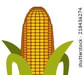 vegetables design over white... | Shutterstock .eps vector #218436274
