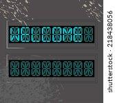 neon word welcome   Shutterstock .eps vector #218438056