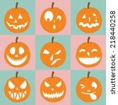 jack o' lantern  halloween... | Shutterstock .eps vector #218440258
