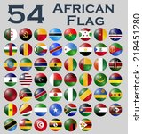 vector set of african flags. | Shutterstock .eps vector #218451280