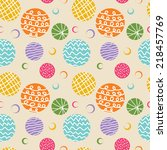 colorful polka dots seamless... | Shutterstock .eps vector #218457769