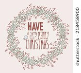 have a very merry christmas card | Shutterstock .eps vector #218458900