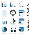 set of infographics elements | Shutterstock .eps vector #218462236