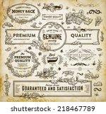 vintage vector design elements... | Shutterstock .eps vector #218467789