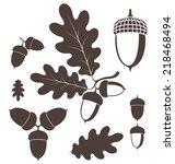 oak. acorn. vector illustration  | Shutterstock .eps vector #218468494
