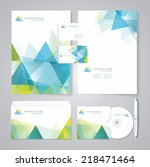 corporate identity template... | Shutterstock .eps vector #218471464