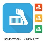 Barcode Label With Reader Icon...