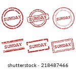 sunday stamps | Shutterstock .eps vector #218487466