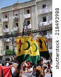 Alcoy  Spain   May 14  Banners...