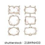christmas doodle frame | Shutterstock .eps vector #218496433