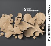 vector cardboard graphics | Shutterstock .eps vector #218498230