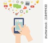element of mobile application...   Shutterstock .eps vector #218499430