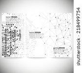 set of banners. molecule... | Shutterstock .eps vector #218499754
