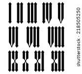 roman numerals set. | Shutterstock .eps vector #218505250