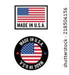 vector 'made in usa' icon and... | Shutterstock .eps vector #218506156